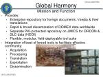 global harmony mission and function