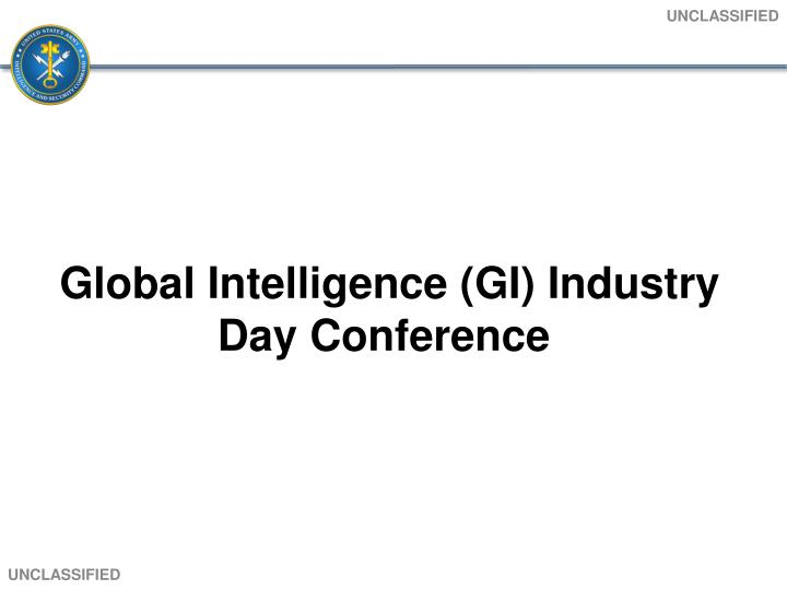 global intelligence gi industry day conference