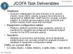 jcofa task deliverables
