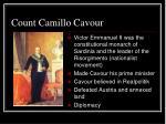 count camillo cavour