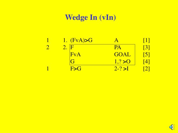 Wedge in vin1