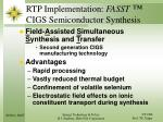rtp implementation fasst cigs semiconductor synthesis