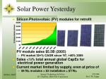 solar power yesterday
