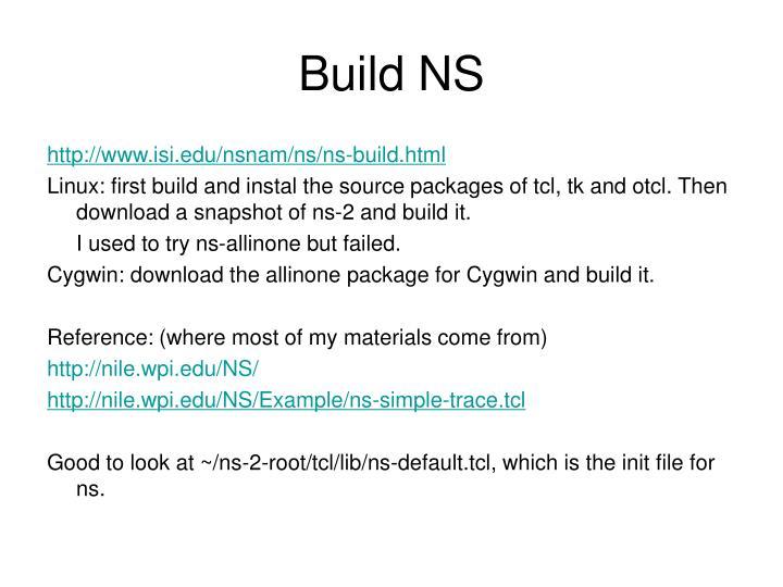Build NS