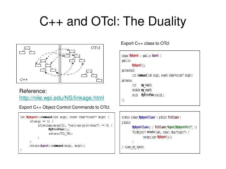 C++ and OTcl: The Duality