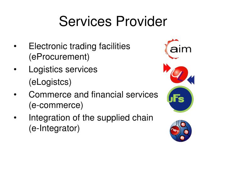 Electronic trading facilities (eProcurement)