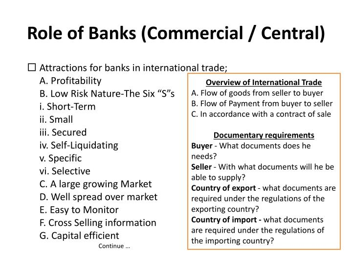 Role of banks commercial central1