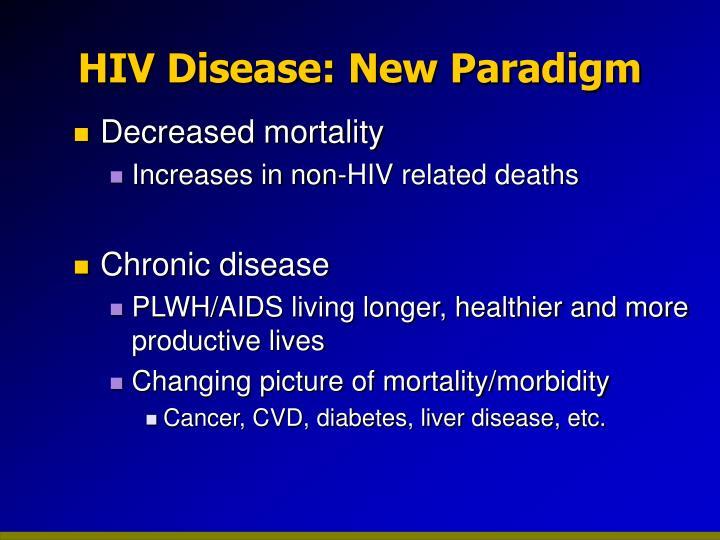 Hiv disease new paradigm