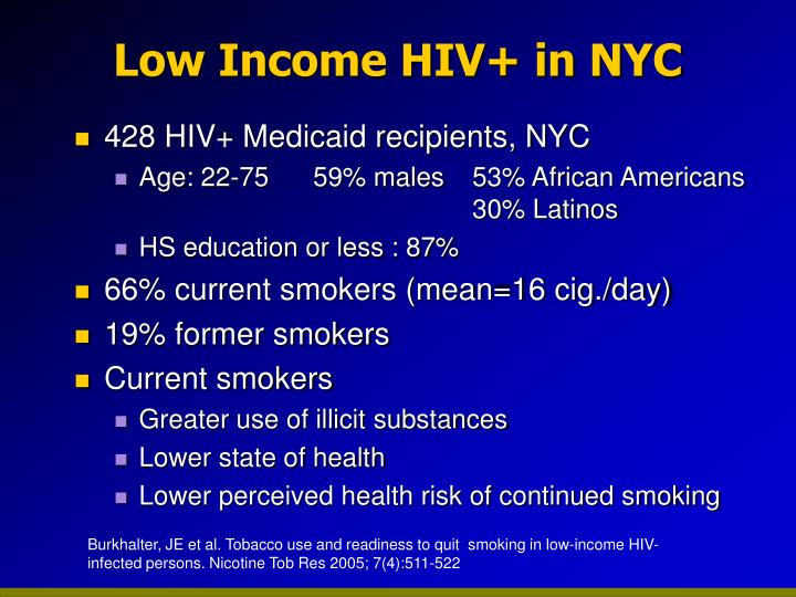 Low Income HIV+ in NYC