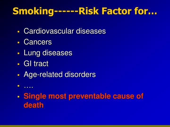 Smoking------Risk Factor for…