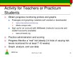 activity for teachers or practicum students