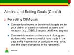 aimline and setting goals cont d