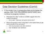 data decision guidelines cont d