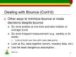 dealing with bounce cont d