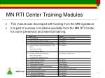 mn rti center training modules