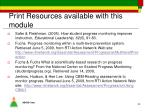 print resources available with this module