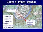 letter of intent double chooz