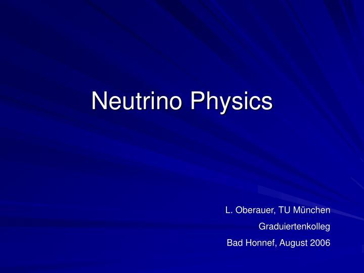 neutrino physics n.