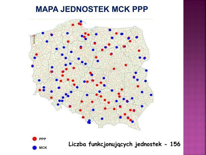 Mapa jednostek MCK PPP