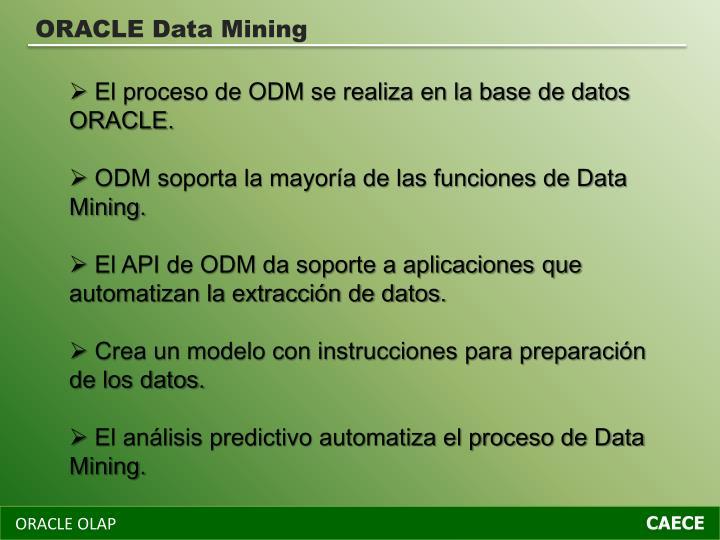 ORACLE Data Mining