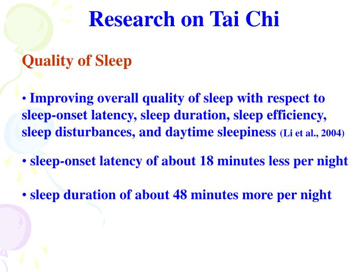 Research on Tai Chi