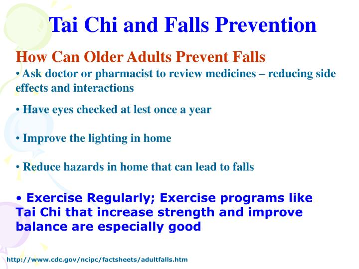 Tai Chi and Falls Prevention