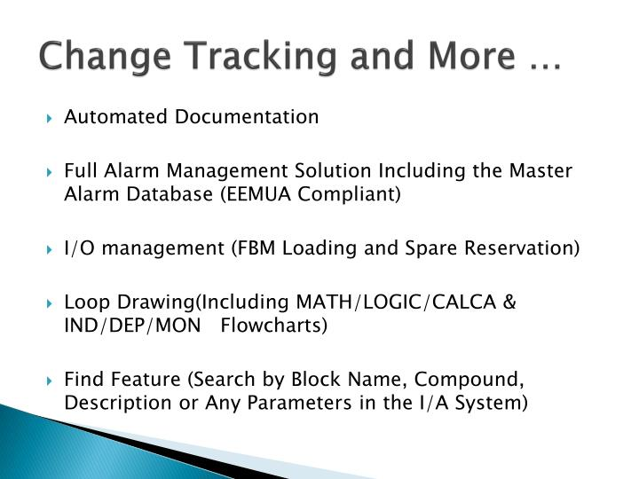 Change Tracking and More …