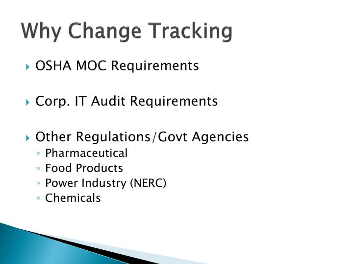 Why Change Tracking