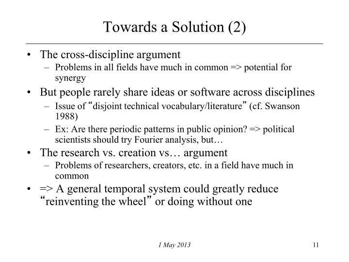 Towards a Solution (2)