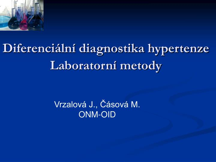 Diferenci ln diagnostika hypertenze laboratorn metody