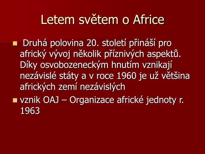 Letem světem o Africe