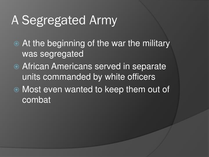 A Segregated Army