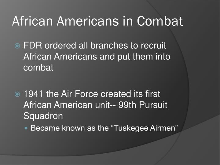 African Americans in Combat