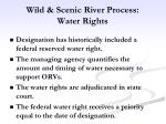 wild scenic river process water rights