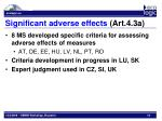 significant adverse effects art 4 3a