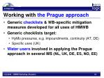 working with the prague approach