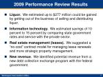 2009 performance review results