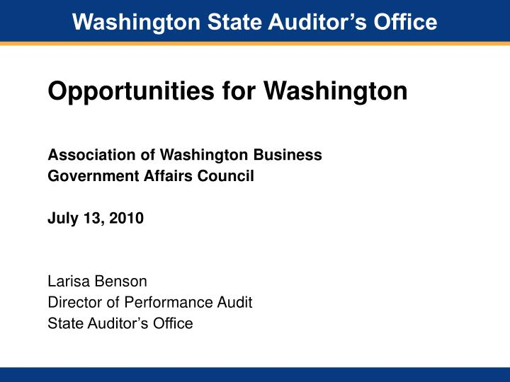 washington state auditor s office n.