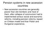pension systems in new accession countries