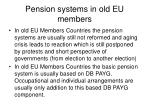 pension systems in old eu members