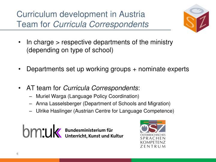 Curriculum development in Austria