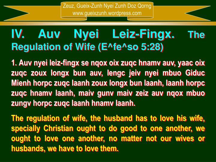 IV. Auv Nyei Leiz-Fingx.