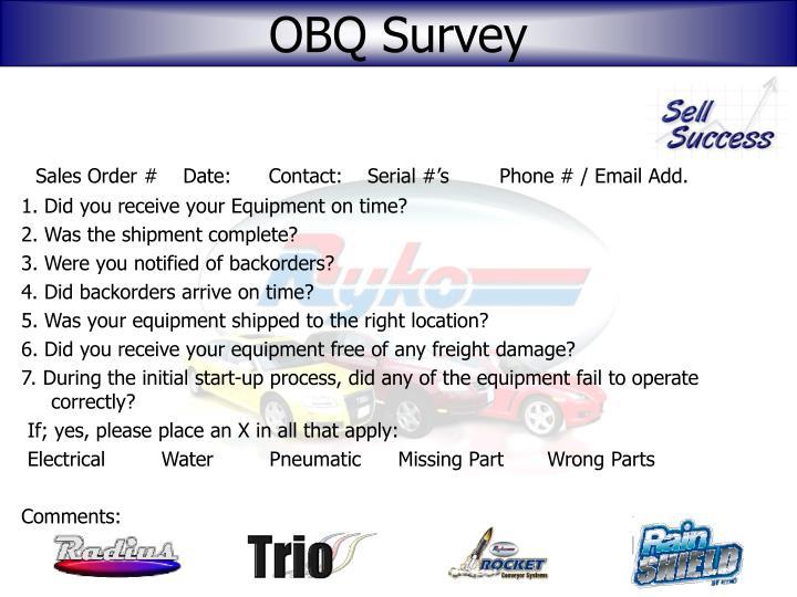 OBQ Survey