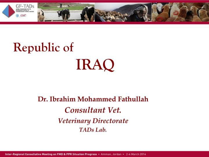 Republic of iraq