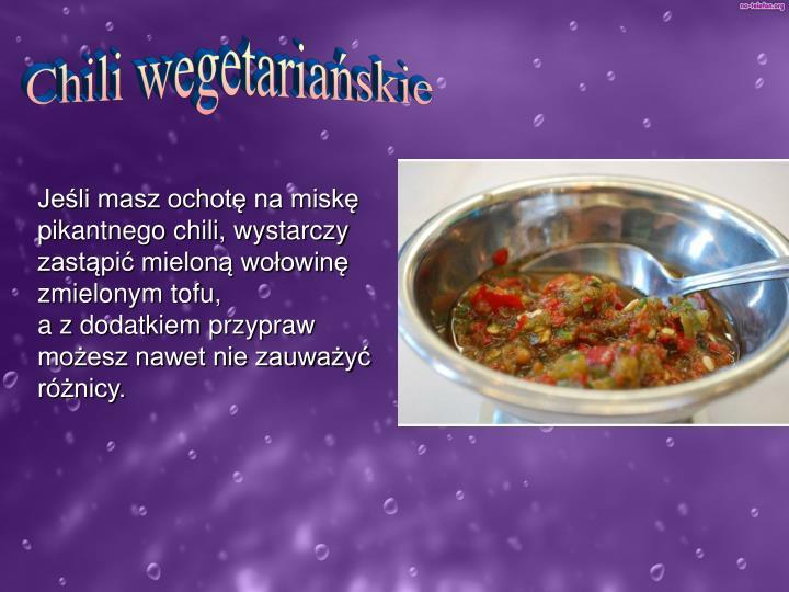 Chili wegetariańskie