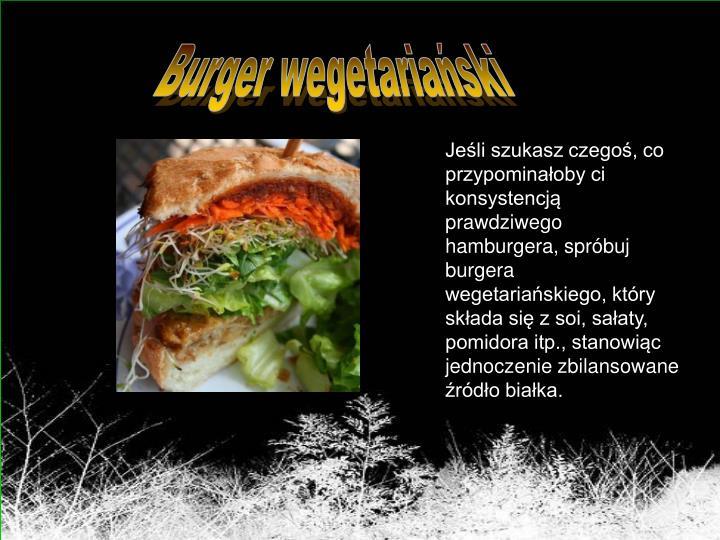 Burger wegetariański