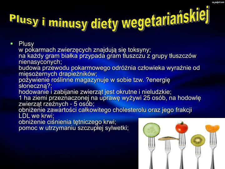 Plusy i minusy diety wegetariańskiej