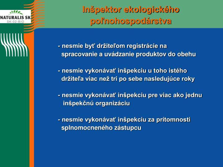 Inšpektor ekologického poľnohospodárstva