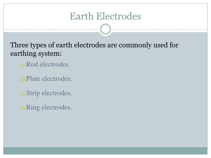 Earth Electrodes