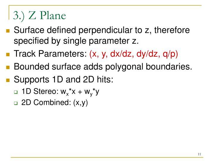 3.) Z Plane